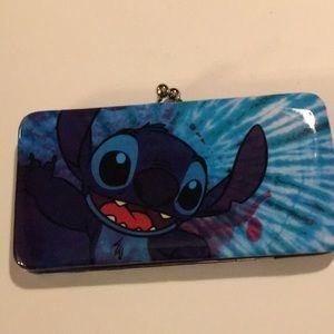 Disney Lilo and Stitch tie dye kiss lock wallet